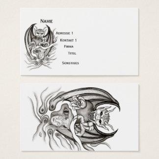 Tarjeta De Visita Sueño de medianoche - diablos en Tatuaje-estilo