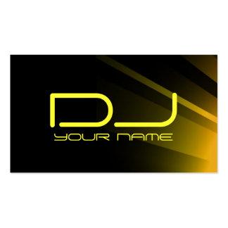 Tarjeta de visita superior de DJ