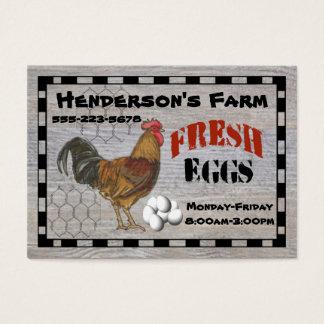 Tarjeta De Visita Sus huevos frescos de la granja