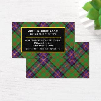 Tarjeta De Visita Tela escocesa de tartán escocesa de Cochrane del