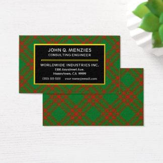 Tarjeta De Visita Tela escocesa de tartán escocesa de Menzies del
