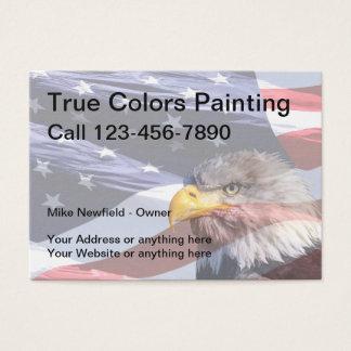 Tarjeta De Visita Tema americana del pintor