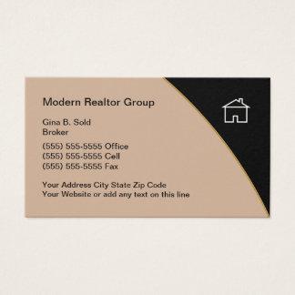 Tarjeta De Visita Tema moderno de las propiedades inmobiliarias
