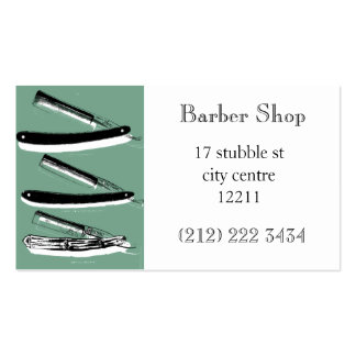 Tarjeta de visita temática de la peluquería de