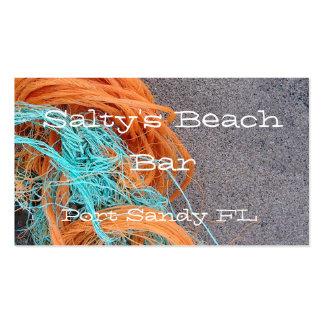 Tarjeta de visita temática de la playa