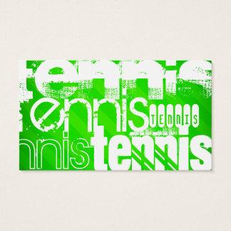 Tarjeta De Visita Tenis; Rayas verdes de neón