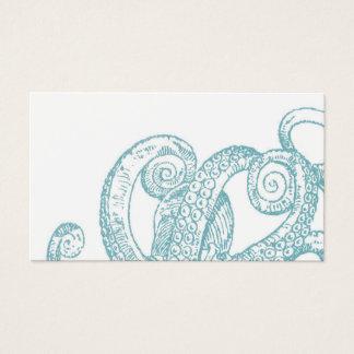 Tarjeta De Visita Tentáculos verde azulados del pulpo