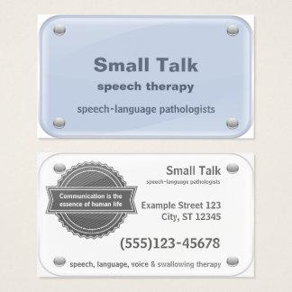 Tarjeta De Visita Terapeuta de discurso - patólogos de la