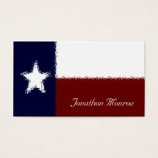 Tarjeta De Visita Texan de cristal del efecto de la bandera