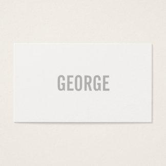 Tarjeta De Visita Texto minimalista/gris