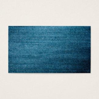 Tarjeta De Visita Textura azul de los vaqueros del dril de algodón