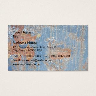Tarjeta De Visita Textura azul del metal del moho