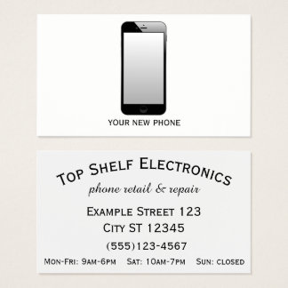 Tarjeta De Visita Tienda del teléfono - venta al por menor y