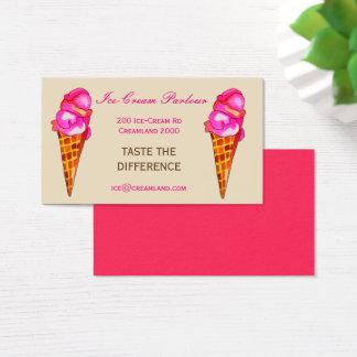 Tarjeta De Visita Tienda o negocio del helado