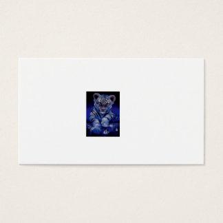 Tarjeta De Visita tigre blanco