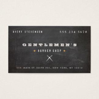 Tarjeta De Visita Tijeras frescas de la peluquería de caballeros del