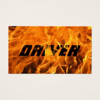 Tarjeta De Visita Tipografía ardiente fresca de la llama del fuego
