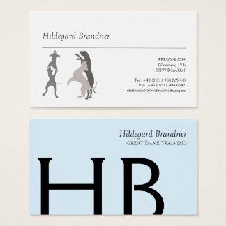 Tarjeta De Visita Tipografía y grandes daneses