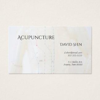 Tarjeta De Visita Torso y brazos de la acupuntura