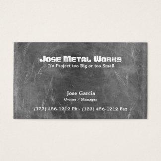 Tarjeta De Visita Trabajos de encargo del metal