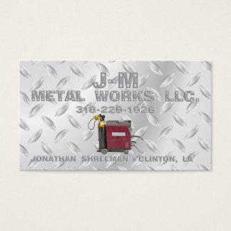 Tarjeta De Visita Trabajos del metal de JM