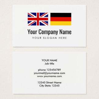Tarjeta De Visita Traductor alemán-inglés de los servicios de