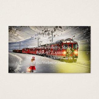 Tarjeta De Visita Tren expreso de santa del Polo Norte - el navidad