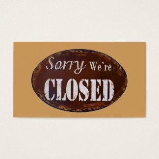Tarjeta De Visita Triste somos cerrados