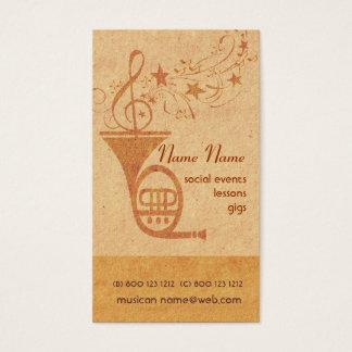 Tarjeta De Visita Trompa de la música clásica del vintage - DJ