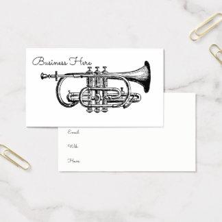 Tarjeta De Visita Trompeta del Minimalist del instrumento musical