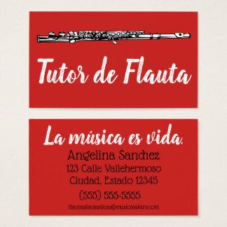 Tarjeta De Visita Tutor de Flauta