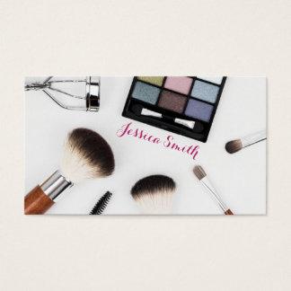 Tarjeta de visita única del artista de maquillaje