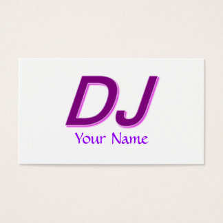Tarjeta de visita única moderna de DJ