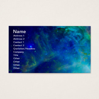 Tarjeta De Visita Universo cósmico del espacio de la galaxia de la