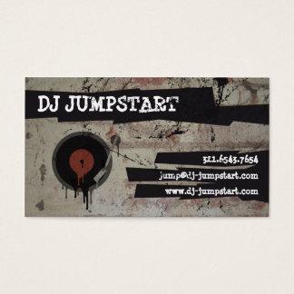 Tarjeta de visita urbana de DJ de la placa