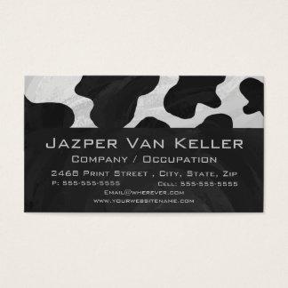 Tarjeta De Visita Vaca del monograma blanco y negro
