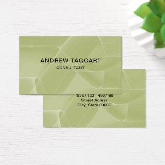 Tarjeta De Visita verde abstracto elegante de las formas