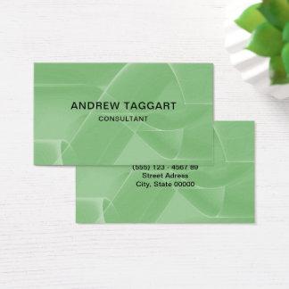 Tarjeta De Visita verde abstracto moderno de las formas