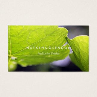 Tarjeta de visita verde del zen de la naturaleza