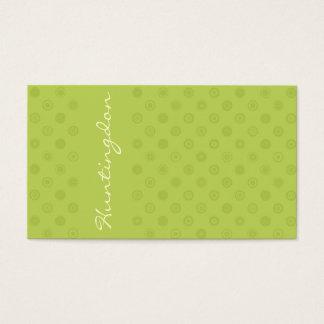 Tarjeta De Visita Verde en verde con los círculos amarillos