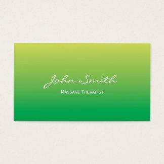 Tarjeta de visita verde suave del terapeuta del
