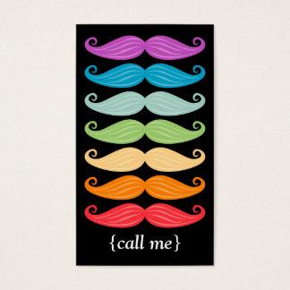 Tarjeta De Visita Vertical Bizcard de los bigotes del arco iris