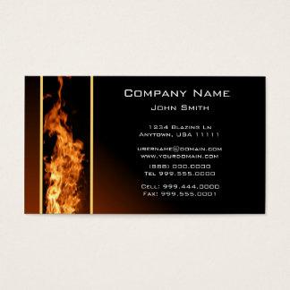 Tarjeta de visita vertical de la llama