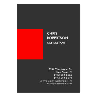Tarjeta de visita vertical roja gris profesional