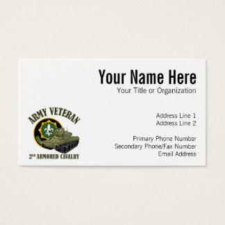 Tarjeta De Visita Veterano del ejército - 2do ACR M551