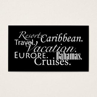 Tarjeta De Visita Viaje en el negro/blanco