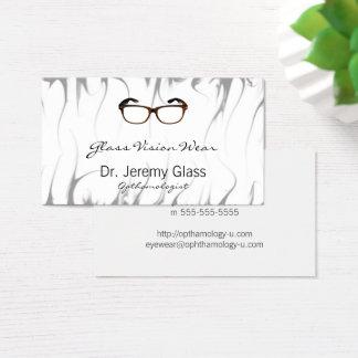 Tarjeta De Visita Vidrios de las gafas