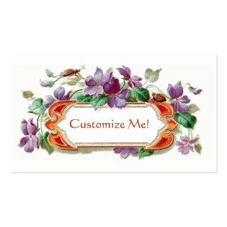 Tarjeta de visita violeta de la tarjeta de visita