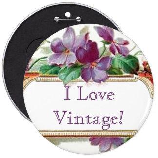 Tarjeta de visita violeta del vintage colorido ele chapa redonda 15 cm