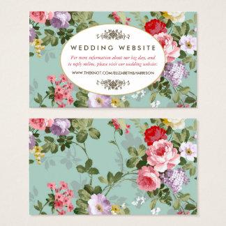 Tarjeta De Visita Web site botánico del boda del jardín floral del